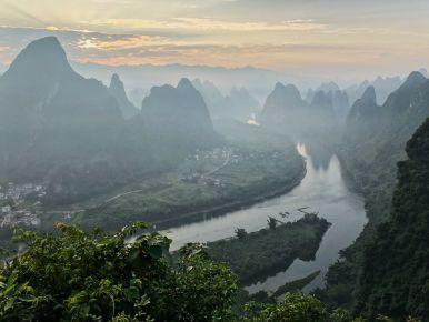 Sunset in Yangshuo