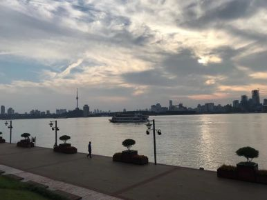River clouds view-Wuhan