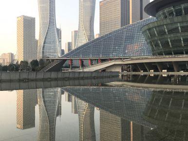 The modern skyline in Hangzhou (i)